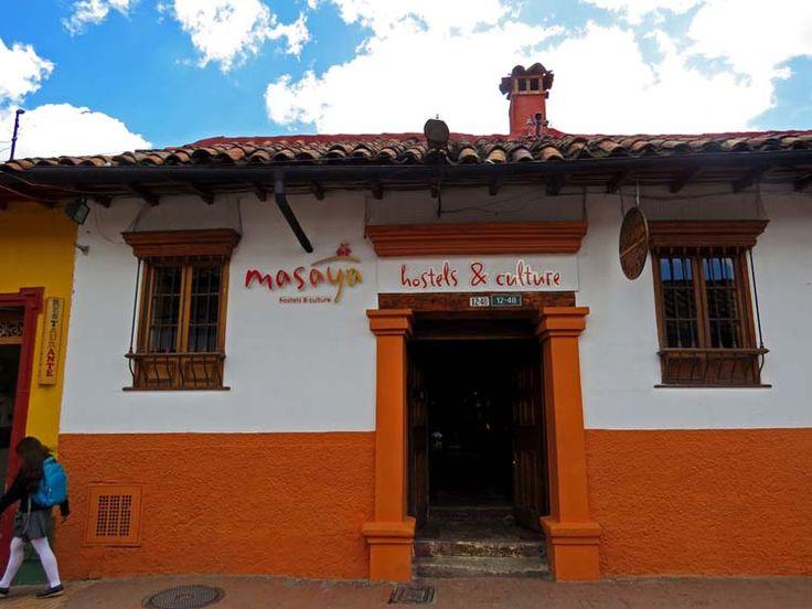 12. Hostel Masaya por la Carrera Segunda a una cuadra del Chorro de Quevedo.