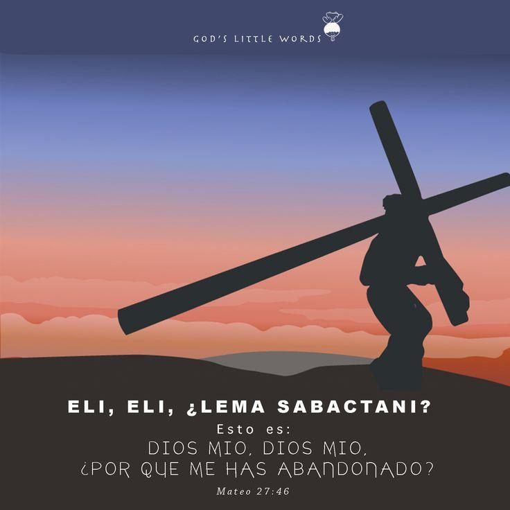 Gracias Señor por hacer ese sacrificio por mi, por amarme a tal punto de entregar tu vida por mi salvación.
