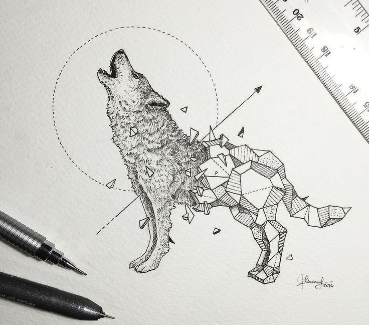 17 Best Ideas About Geometric Wolf Tattoo On Pinterest Ideas And Girl