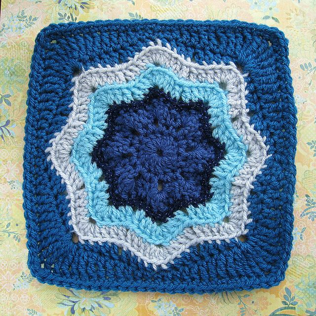 Ravelry: Project Gallery for Nordic Star Afghan Square pattern by Priscilla Hewitt...free pattern!