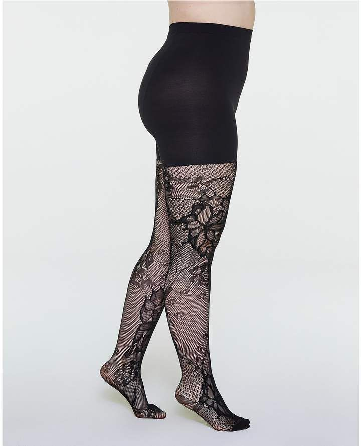 e18e01984 Spanx Fishnet Floral Mid-thigh Shaping Tights  Floral Fishnet Spanx ...