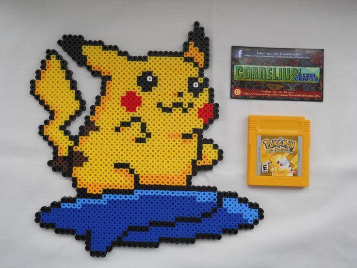 Pokemon Yellow Colorized Surfing Pikachu by CorneliusPixelCrafts