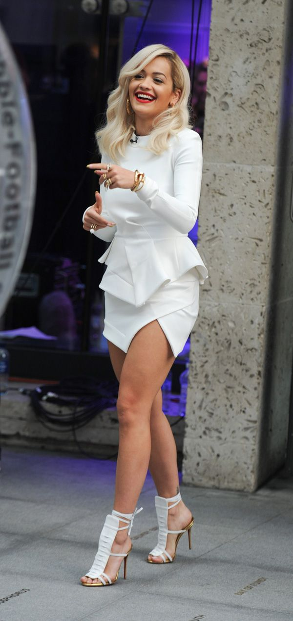 Rita Ora Seen Filming For The ONE Show In London