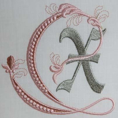 Fleur de Lis Alphabet- X: Sonia Showalter: