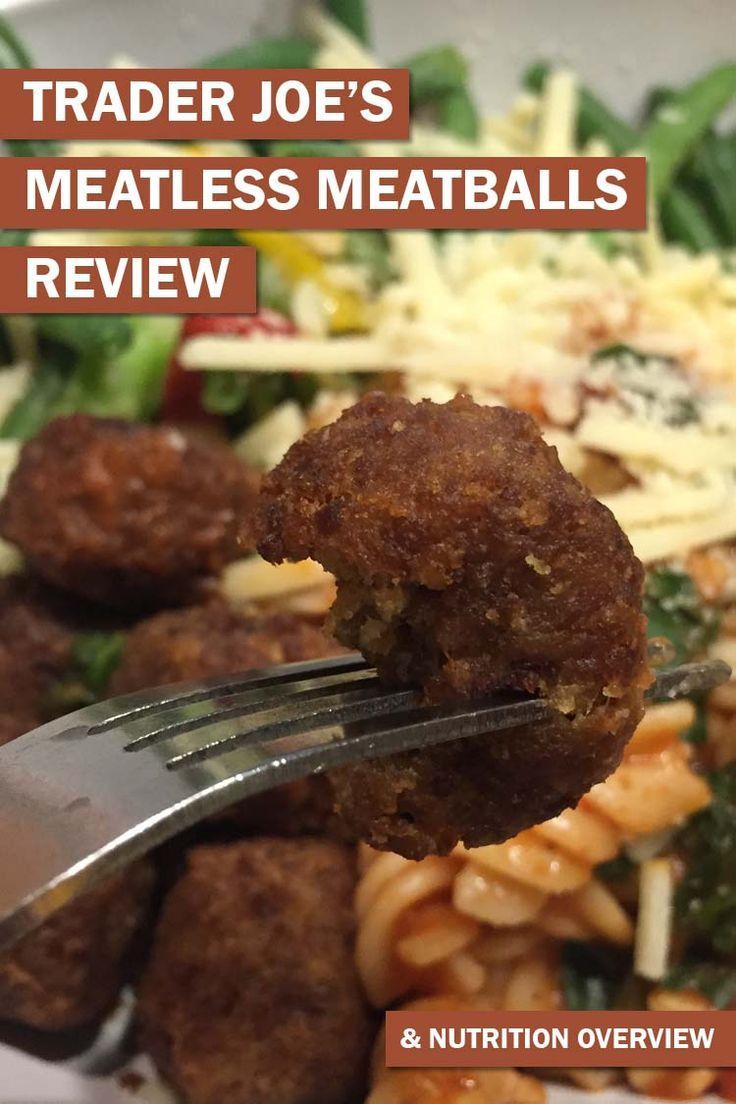 A review of the Trader Joe's meatless meatballs. Including cost, nutrition breakdown, macros, taste test, meal ideas and more.