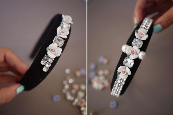DIY: como fazer uma TIARA DECORADA! - handband