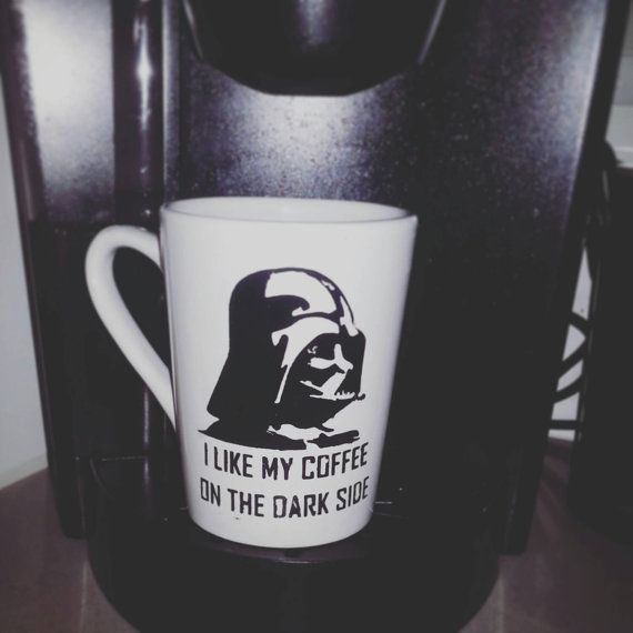 "Darth Vader coffee mug. ""I LIKE MY COFFEE ON THE DARK SIDE"" Check out this item in my Etsy shop https://www.etsy.com/listing/246735051/coffee-mug-star-wars-darth-vader-i-like"