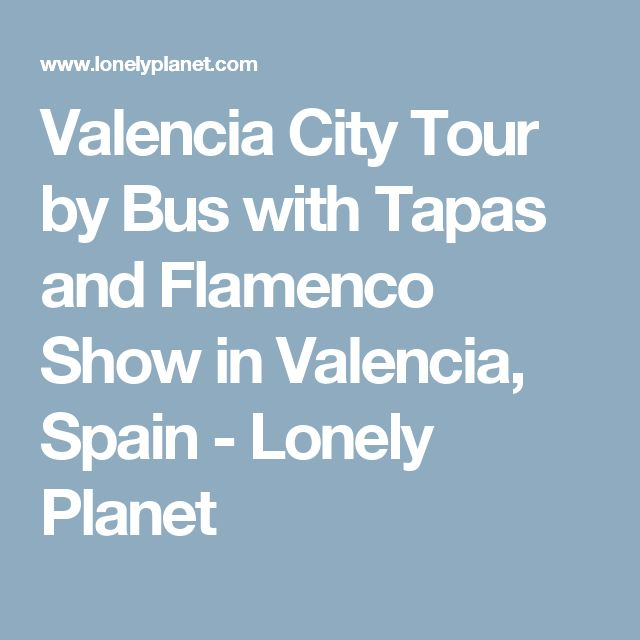 Valencia City Tour by Bus with Tapas and Flamenco Show in Valencia, Spain - Lonely Planet