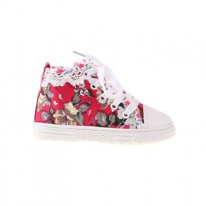 Παιδικά Χαμηλά Παπούτσια για Κορίτσια MATAR - κόκκινο