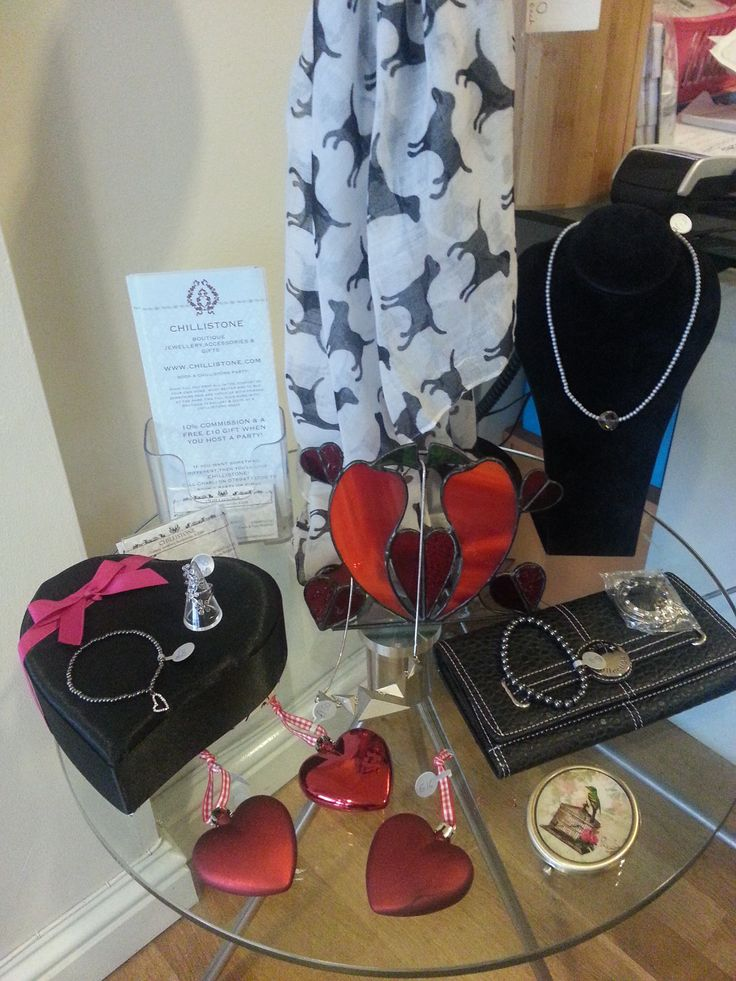 Valentines display of Chillistone Accessories at Ki Beauty Salon Worcester.Pop in to try and buy while booking a treatment at the salon