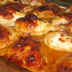 Kosher Baked Apricot Chicken in Sauce