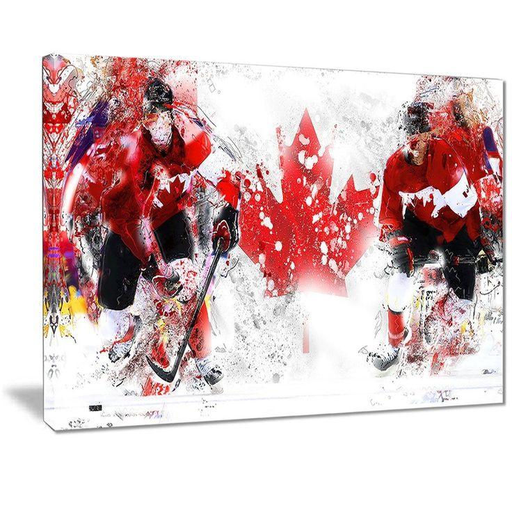 Team Canada Hockey Canvas Print | PT2533