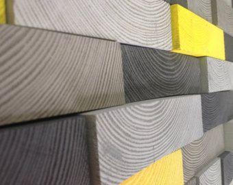 Arte de pared de madera arte geométrico de por ArtGlamourSligo
