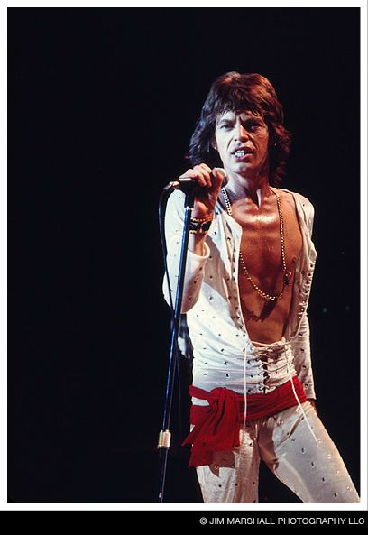 Mick Jagger, cover of life magazine for Stones' 72 tour, 1972