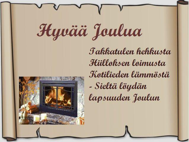 Tulostettava joulukortti-pohja ruskea