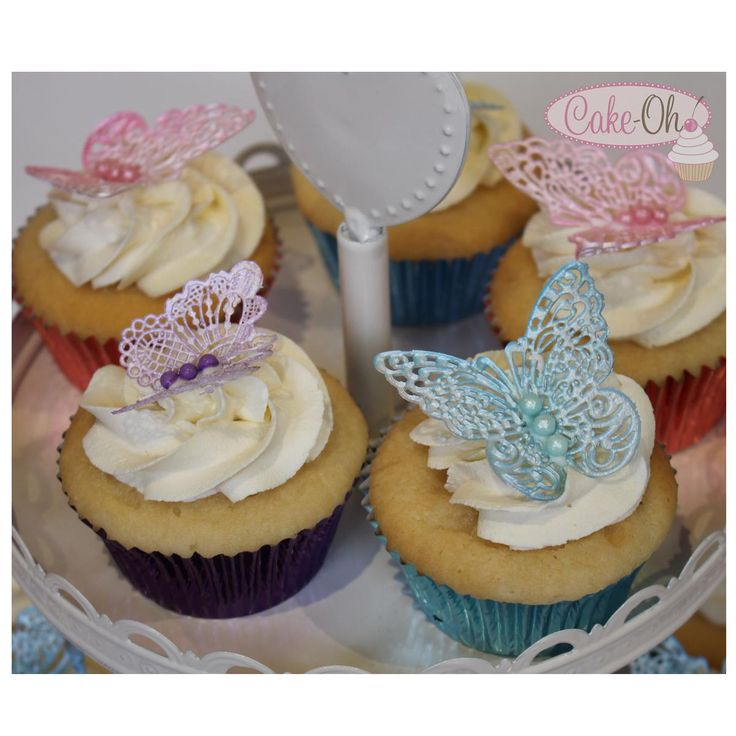 Butterfly Cupcakes - gorgeous edible lace butterfly cupcake toppers. Perfect for a  pretty fairy party