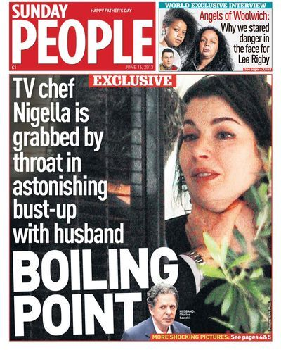 Sunday People's Exclusive of Nigella Lawson and Charles Saatchi's row win Scoop of the Year - Mirror Online
