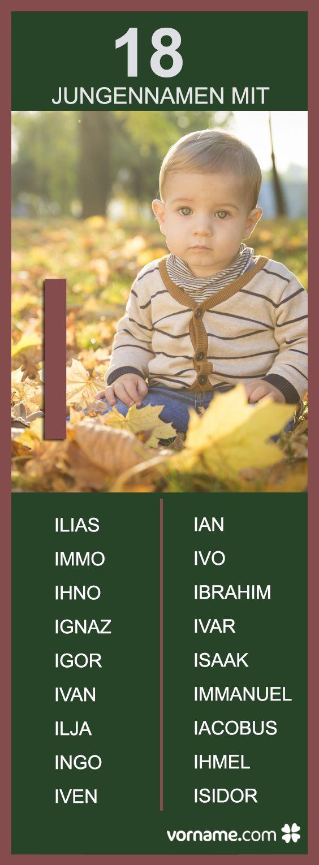"""Ihr erwartet ein Baby und sucht einen schönen Namen? Bei uns findet Ihr alle Jungennamen mit """"I""""."""