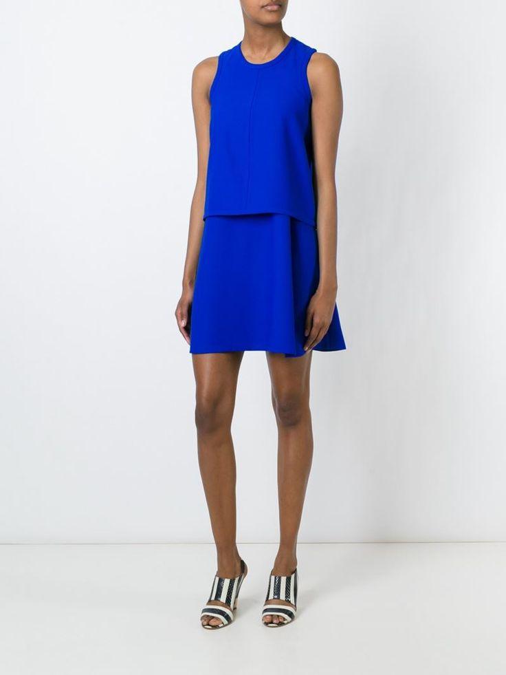¡Cómpralo ya!. Carven Vestido A Capas. Vestido a capas azul rey de Carven. , vestidoinformal, casual, informales, informal, day, kleidcasual, vestidoinformal, robeinformelle, vestitoinformale, día. Vestido informal  de mujer color azul claro de Carven.