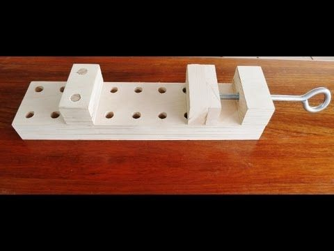 Make a wooden clamp, effective and simple to make. - YouTube  It would be cool to make one that fits in miter slot.