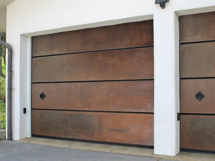 Sectional Corten™ garage door CORTEN Le Perle Collection by Breda Sistemi Industriali