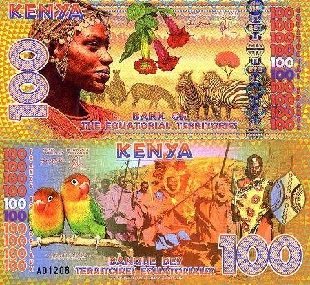 100 Kenya  UNC Banknote