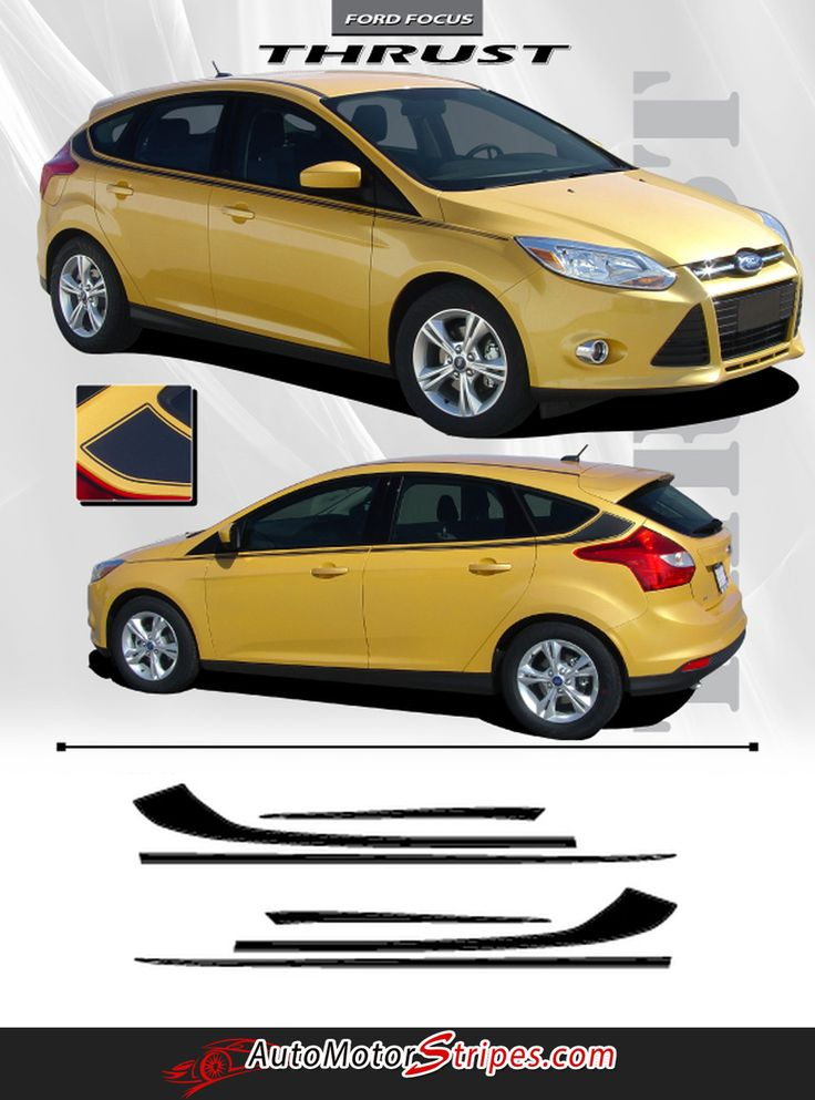 Best Car Images On Pinterest Ford Focus Cars And Accessories - Car decals designnew design full car body stickers for ford focus golf mg