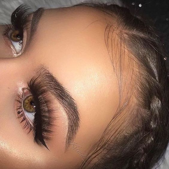 long voluminous lashes perfect full brows