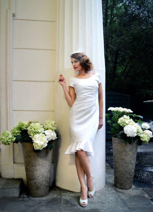 krótkie suknie ślubne warszawa, suknie ślubne retro, lata dwudzieste, krótka sukienka ślubna