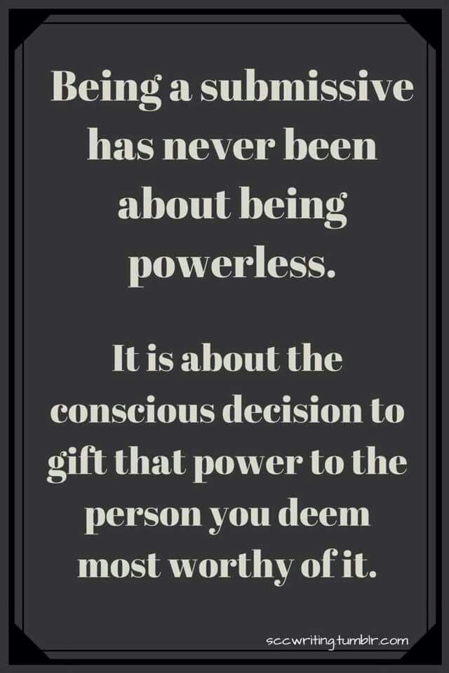 Not about being powerless