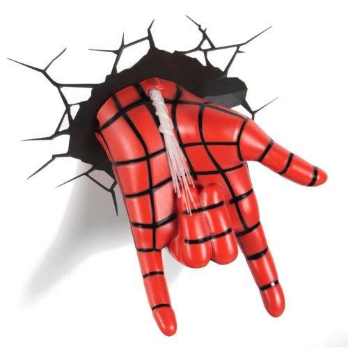 3-d man marvel   ... Marvel 3D LED Night Lights · Marvel Spider-Man Hand - 3D Night Light