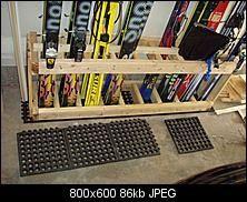 downhill ski storage ideas | ski rack, another design