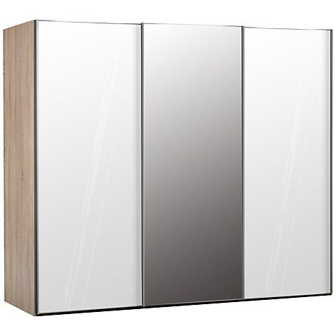 Buy John Lewis Elstra 250cm Wardrobe with Glass and Mirrored Sliding Doors Online at johnlewis.com