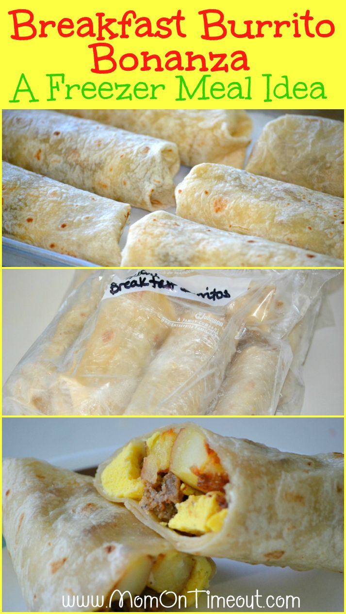 Breakfast Burritos are the perfect meal to make ahead and freeze saving time during busy mornings! | MomOnTimeout.com | #freezermeal #freezer #breakfast #recipe