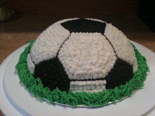 This soccer ball cake is easy to make and is perfect for a birthday party. All you need is buttercream icing and a variety of tips to make this fun cake.