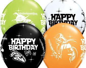 10 Star Wars Balloons Black Birthday Party Supplies Latex