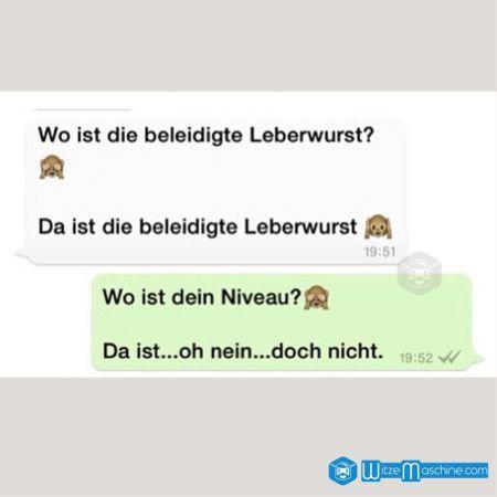 Lustige WhatsApp Bilder und Chat Fails 14 - Beleidigte Leberwurst
