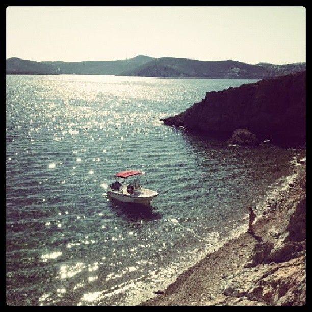 Crystal clear waters on a beautiful beach of Patmos Island! Enjoy!