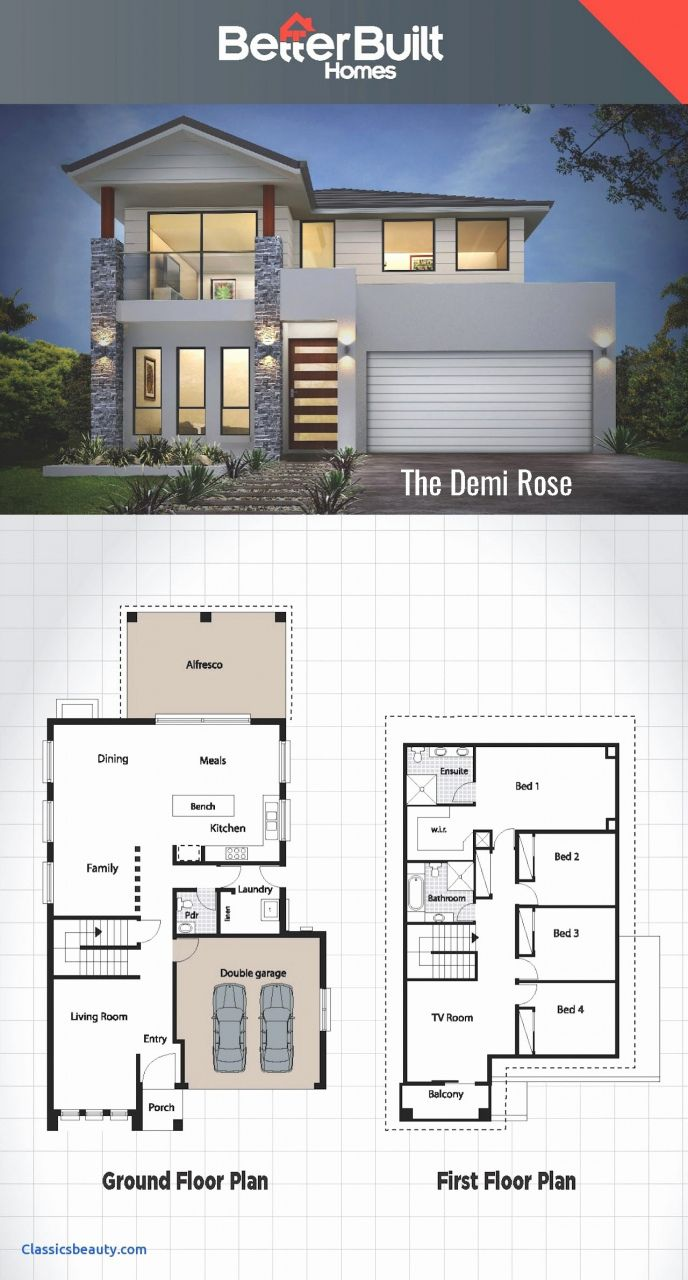 77 Design House Plans 2017 In 2020 Modern House Floor Plans House Blueprints Double Storey House