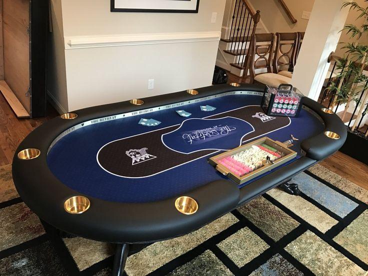 Lovely 4u0027x8u0027 Custom Poker Table With LED Lighting