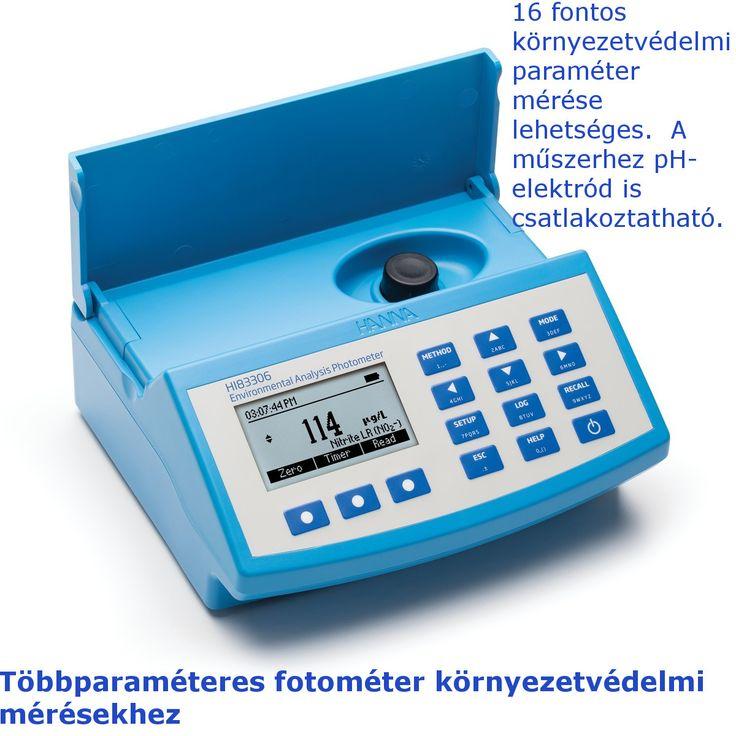 A Hanna HI83306 asztali fotométer segítségével több a környezetvédelemben igen fontos elem koncentrációja vizsgálható.
