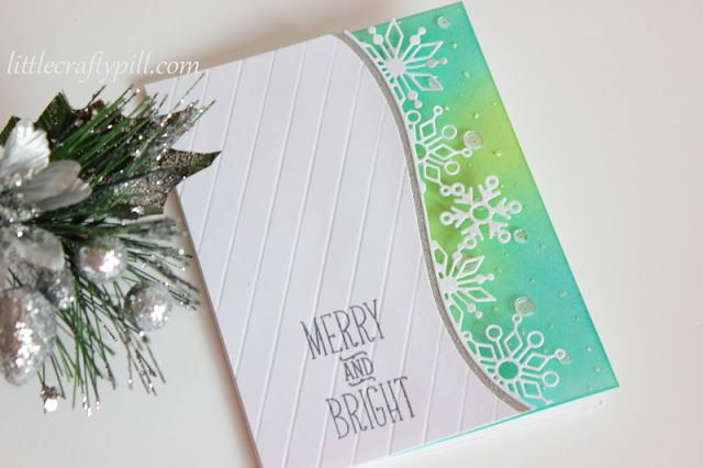 Little Crafty Pill Clean And Simple Christmas Card