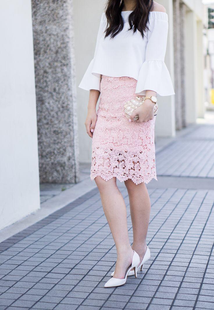 wonderful lace skirts outfits 13