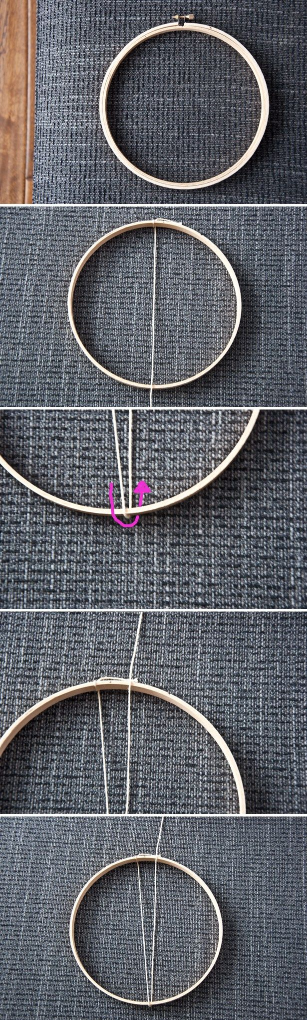 How to Use an Embroidery Hoop as a Loom | The Weaving Loom
