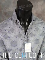 "NWT Mens Robert Graham Button-Up Sport Shirt ""CONAN"" Black Tailored SLIM Fit"