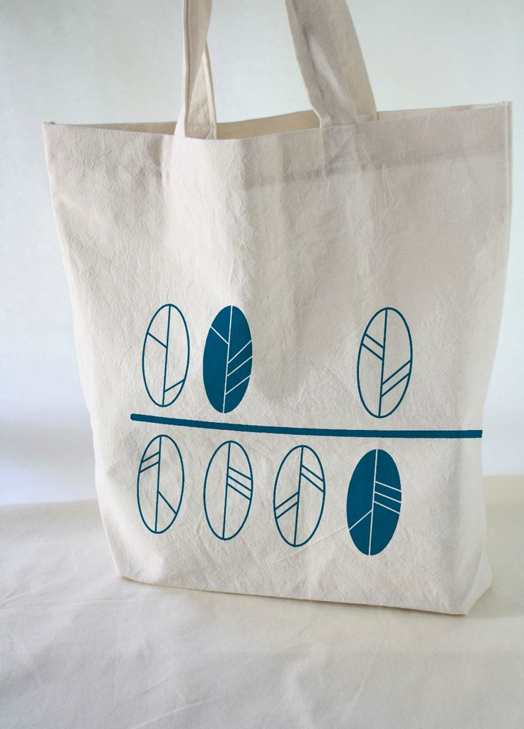 Eco Bags - Cotton totebags hand printed