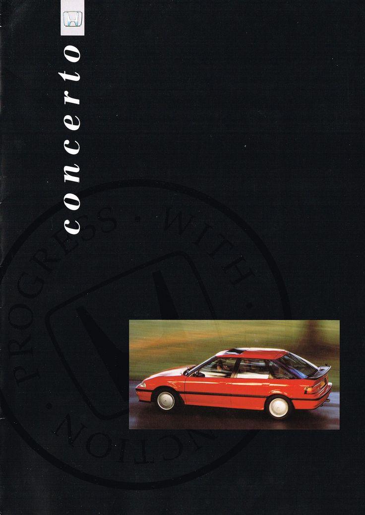 Honda Concerto UK Brochure 1991