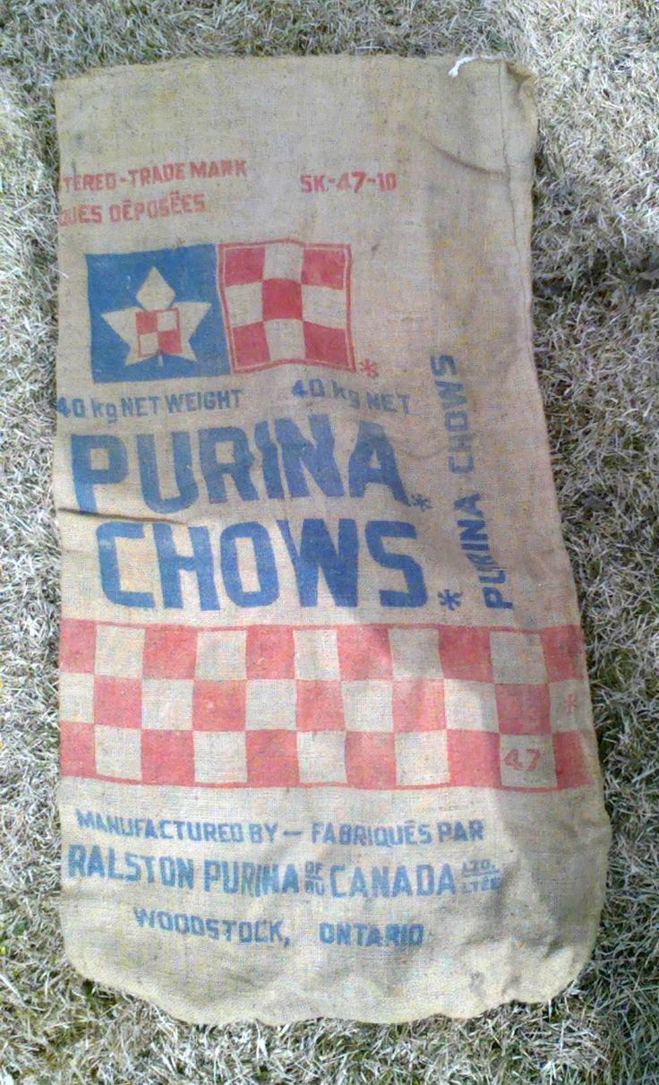 Purina Chows Burlap Bag