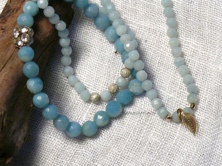 Amazonita #jewelry #handmade #gemstones #joyeria #hechoamano #artesania #piedras