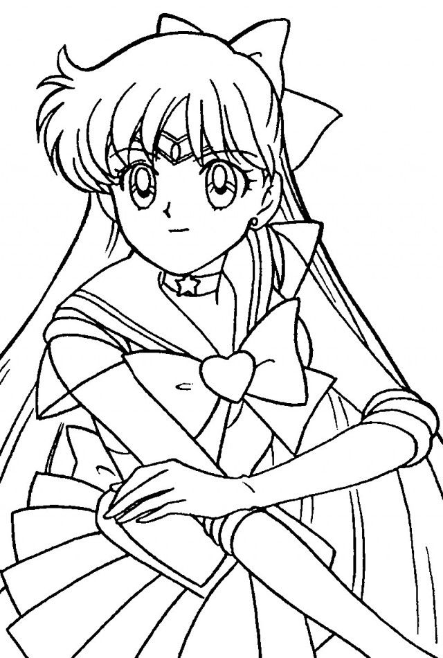 Sailor Moon Coloring Pages Free Online Books
